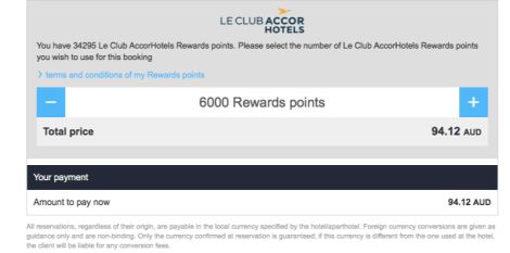 Accor redemption